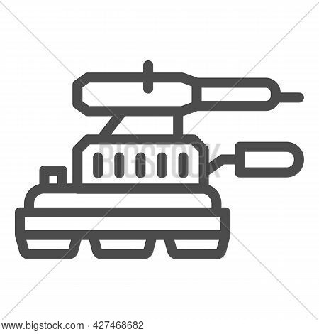 Grinding Machine Line Icon, Construction Tools Concept, Angle Grinder Vector Sign On White Backgroun