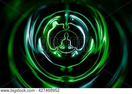 Yoga Meditation In Lotus Pose With Aura Spiritual