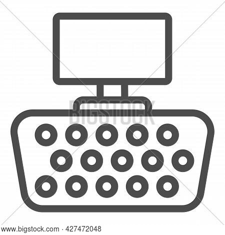Vga Connector Line Icon, Monitors And Tv Concept, Video Graphics Array Connector Vector Sign On Whit