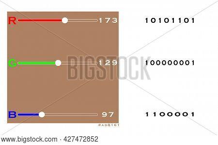 Pixels.rgb Colors.color Information.binary Storage.illustration Represents The Color Details Of A Pi