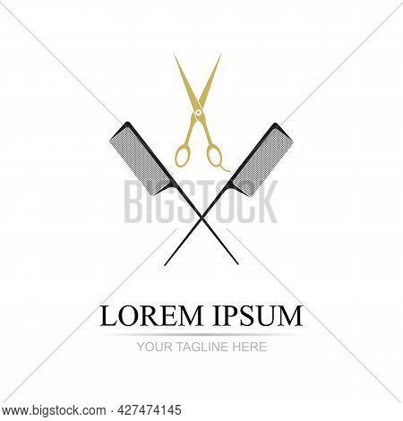 Beauty Haircut Salon Logo Vector Illustration Design