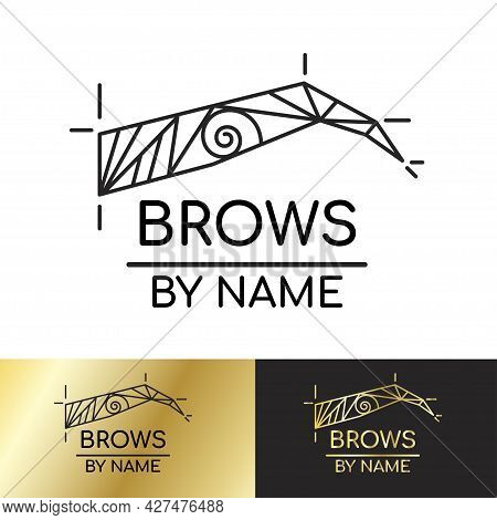 Logo Template For A Master Brow Artist, Eyebrow Architecture