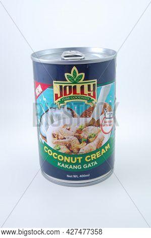 Manila, Ph - July 22 - Jolly Coconut Cream Can On July 22, 2021 In Manila, Philippines.