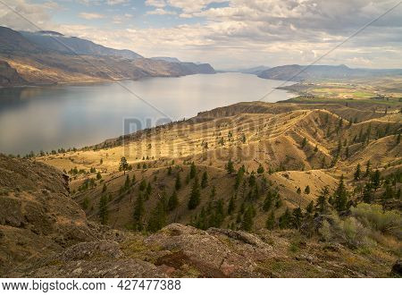 Kamloops Lake British Columbia. Kamloops Lake On The Thompson River In British Columbia. Canada.