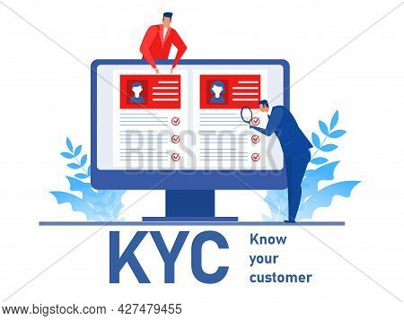 Kyc Or Know Your Customer With Business Verifying The Identity Of Its Clients Concept At The Partner