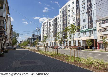 Belgorod, Russia - July 08, 2021: View Of Grazhdanskiy Avenue In The Center Of Belgorod