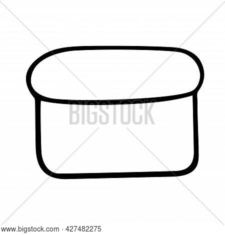 Loaf Of Bread Hand Drawn Sketch Isolated On White Background.