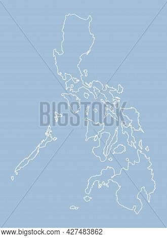 Vector Map Philippines, Template Outline Or Border