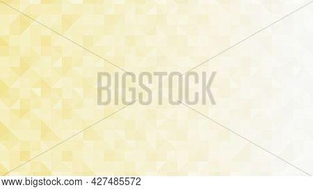Abstract Beige Low-polygons Generative Background, Illustration. Triangular Pixelation.