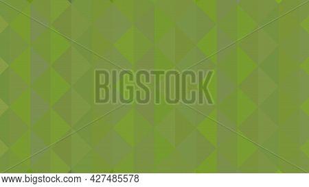 Abstract Geometric Background. Triangular Pixelation. Mosaic, Green Gradient.