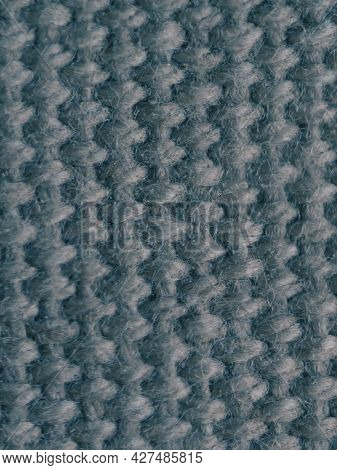 Dense Green Fabric, Texture Close-up. Textile Background.