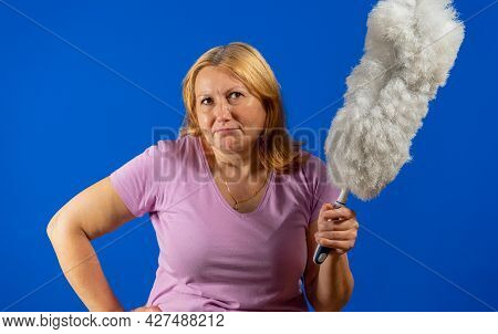 Young Woman Adoing House Cleaning. Hygiene Concept