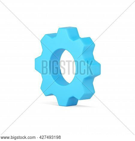Realistic Gear 3d Icon. Cogwheel Industry And Machinery