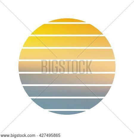 Design Of Sunset Striped Wallpaper. Sunset Striped Background. Sunrise Vintage Wallpaper.