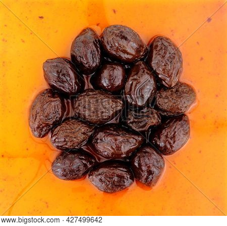 Prunes In Juice Made From Dried Plumb Fruits High Fibre Healthy Food Ingredient
