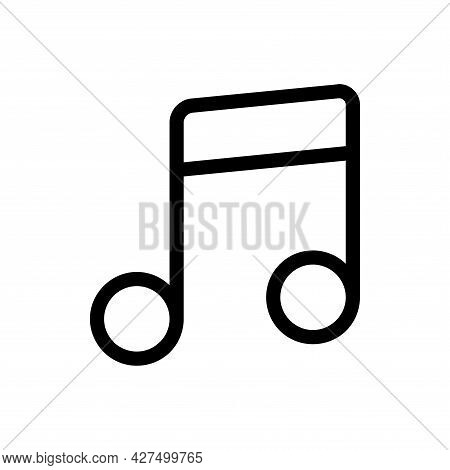 Music Note Line Icon. Music Note Icon Vector Isolated On White Background. Music Note Icon Vector Il