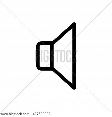 Sound Line Icon. Sound Icon Vector Illustration. Sound Icon Isolated On White Background.