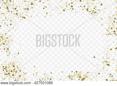 Gold Glitter Texture On Transparent Background. Vector Illustration For Golden Shimmer Background. F