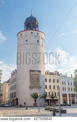 Gorlitz, Germany - June 2, 2021: Thick Tower (german: Dicker Turm). Originally, Part Of The Historic