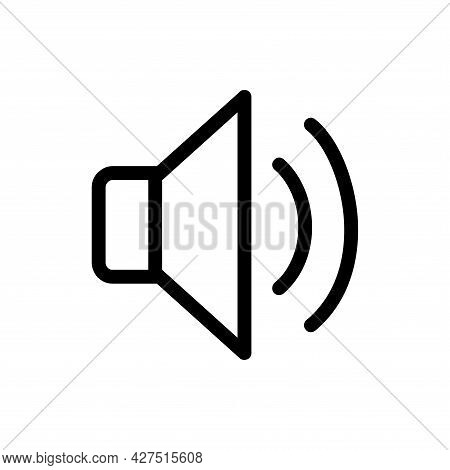 Sound Line Icon. Sound Icon Vector Isolated On White Background. Sound Icon Vector Illustration