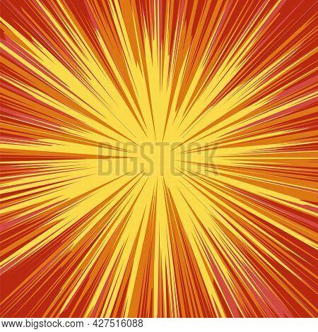 Yellow Explode Flash, Cartoon Explosion, Star Burst