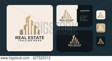 Real Estate Architecture Corporate Business Logo Property Agency Contractor. Logo Can Be Used For Ic