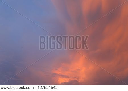 Beautiful Sky. Clouds In Twilight Sky In Evening. Colorful Sky In Twilight Time.