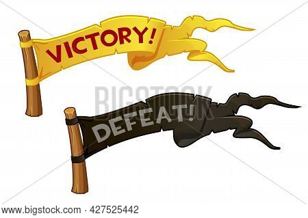 Victory And Defeat Flag For Game, Set Flags To Achieve Or Lose.