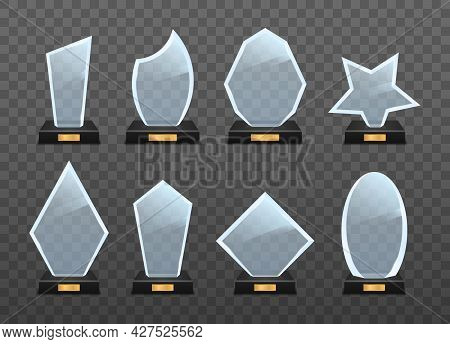 Realistic Glass Trophy Award, Golden Winner Prizes