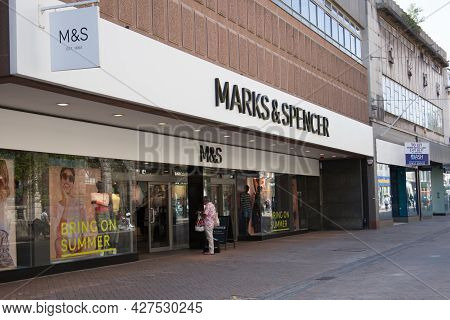 Marks And Spencer's Store In Gloucester In The United Kingdom, Taken On 24th April 2021