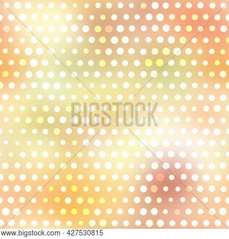 Bokeh Irregular Confetti Dotted Pastel Background. Cute Whimsical Party Carnival Seamless Pattern. P