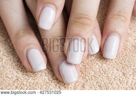 Manicure. Overgrown Nail Polish. Manicure Correction. An Old Manicure. Nail Care. Beauty Salon, Spa,
