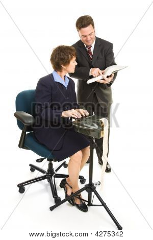 Court Reporter And Lawyer