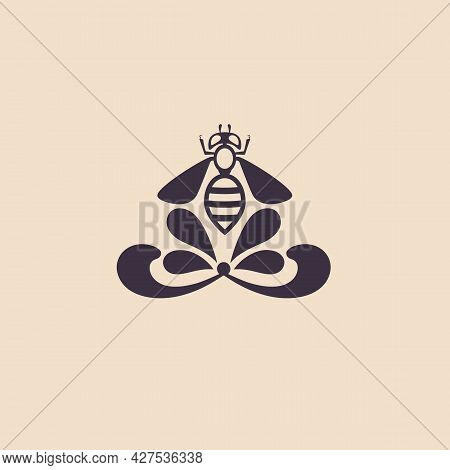 Logo For Cosmetics Made From Bee Products. Advertising Of Injection Cosmetology. Design Of Cosmetics