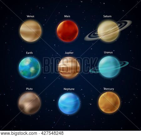 Solar System Planets, Sphere Of Earth Mars Mercury Jupiter Venus Neptune Saturn Uranus
