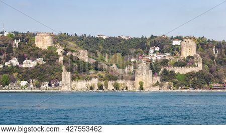 Rumelian Castle In Bosphorus Strait Coast Of Istanbul City, Turkey