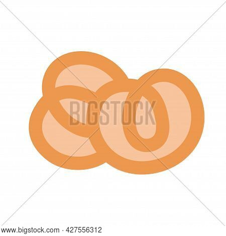 Bagel-shaped Cookies On An Isolated Background. Tea Time. Dessert. Design Elements. Unhealthy Food.