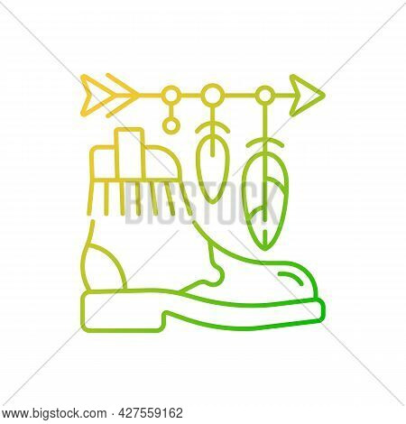 Boho Lifestyle Gradient Linear Vector Icon. Practicing Unconventional Style. Hippie Fashion. Spiritu