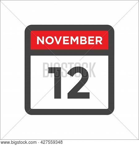 November 12 Calendar Icon W Day Of Month