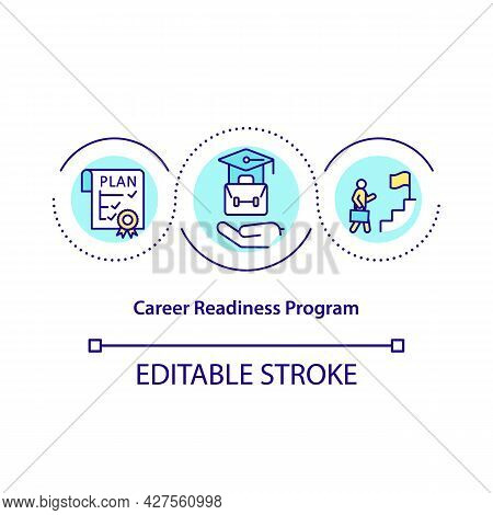Career Readiness Program Concept Icon. Actionable Career Plans Development Abstract Idea Thin Line I