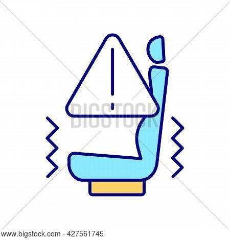 Ev Prophylaxis Blue Rgb Color Icon. Electric Vehicle Test Drive. Vibrations Prevention. Hi-tech Qual