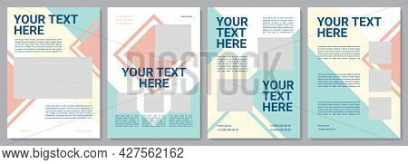 Customer Service Brochure Template. Customer Info. Flyer, Booklet, Leaflet Print, Cover Design With
