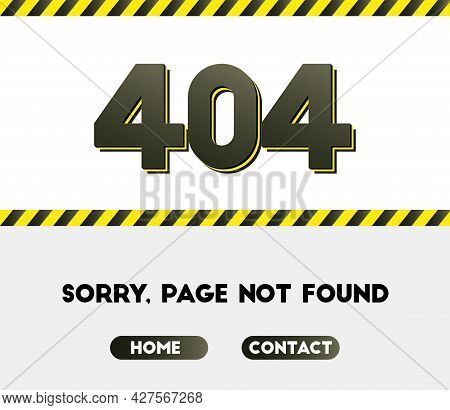 404 Error. Page Not Found. Vector Illustration. Eps 10