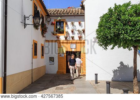 Cordoba, Spain - May 23, 2017: This Is One Of The Lanes Leading To The Courtyards Of The Old  San Ba