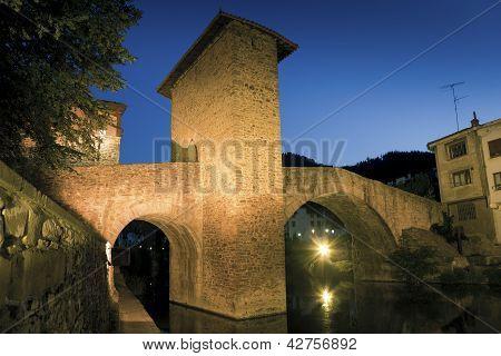 Bridge of Balmaseda Bizkaia Basque Country Spain poster