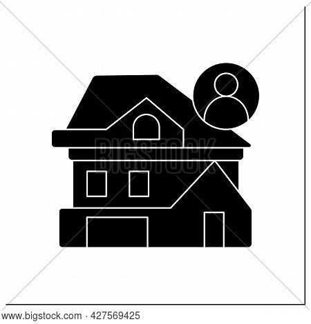 Apartment Building Glyph Icon. Modern Architecture City Apartment House. Concept Of Flat Rent, Realt