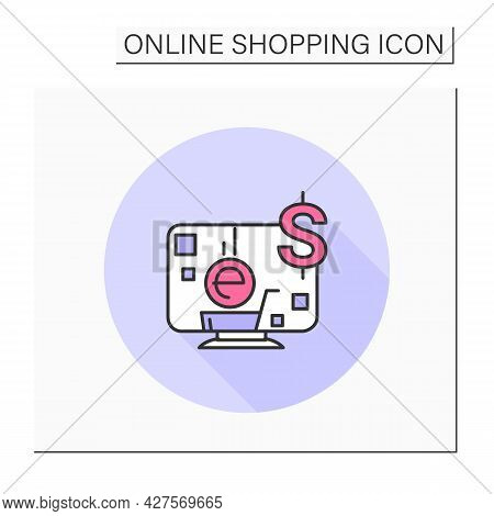 E-commerce Color Icon. Online Shopping. Ecommerce Business And Retail Store. Web Shop, Digital Marke