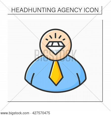 Talent Employee Color Icon. Employees With Special Above-average Skills Or Abilities. Motivated And