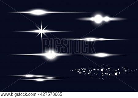 Shining Galaxy. Electricity, Shine. Cloud Technology. Glow Light Effect. Vector Illustration. Stock