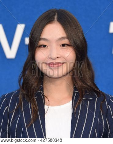 LOS ANGELES - JUL 15: Maia Shibutani arrives for the Ted Lasso Season 2 Premiere on July 15, 2021 in West Hollywood, CA